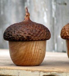 Acorn Button Box by Cattails Woodwork