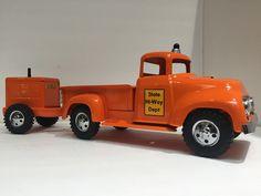 1957 Tonka State Hi-Way Pickup Truck pulling a Generator . Nice Custom set!!!