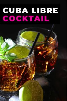 The Cuba Libre cocktail isn't just rum and Coke, it also comes with a fascinating history. You'd be surprised who named this drink and why this cocktail with rum, Coke and lime is still popular when you travel to Cuba. #cuba #travel #rum #cocktail #drink #cubalibre #rumandcoke #lime #classic #recipe Cocktail Drinks, Cocktails, Cuba Libre Cocktail, Around The World Food, Visit Cuba, Magic Recipe, Classic Recipe, Cuba Travel, Original Recipe