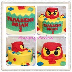 #lego #birthdaycake #birthday #sugaryswirlsco Custom Birthday Cakes, Lego, Desserts, Food, Tailgate Desserts, Deserts, Essen, Postres, Meals