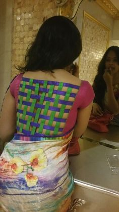 Checks blouse design