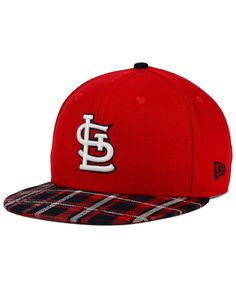 New Era St. Louis Cardinals Plaid 9FIFTY Snapback Cap Men - Sports Fan Shop  By Lids - Macy s 2d9336896