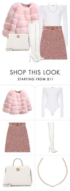 """""""Gucci Gang x Lil Pump"""" by xposed-nothings ❤ liked on Polyvore featuring ATM by Anthony Thomas Melillo, Gucci, Le Silla and Vera Bradley"""
