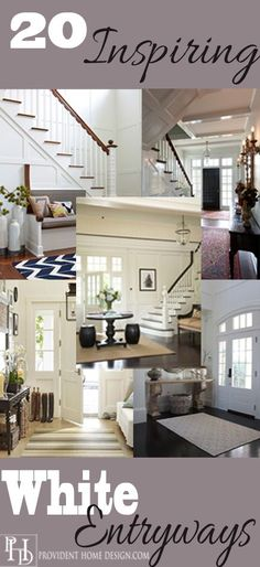 20 Inspiring White Entryways.  If you love white entryways you will love this collection.  Packed full of home design inspiration and eye candy.