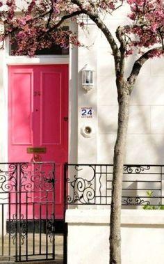 Pink interior design - myLusciousLife.com - Luscious pink front door.jpg