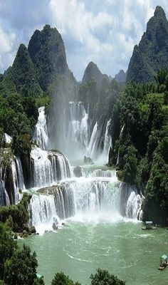 BAN GIOC WATERFALLS, Vietnam 🉐🔻🔹 More At FOSTERGINGER @ Pinterest 🔻🉐💮🔺🔹