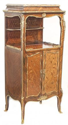 FRANCOIS LINKE GILT-BRONZE MOUNTED PARQUETRY CABINET : Lot 200