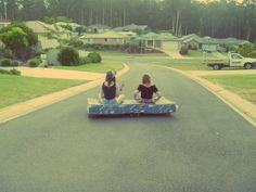 Mattress surfing? On wheels? Yes