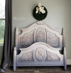 I am often asked about my favorite paint colors that I have used to blend together on furniture. I have finally compiled a list of my Top 20 Dixie Belle Paint Company combos for blending! Painted Beds, Painted Bedroom Furniture, Chalk Paint Furniture, Furniture Projects, Furniture Makeover, Refinished Furniture, Painted Bed Frames, Diy Furniture, Furniture Refinishing