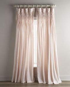Smocked Linen Curtain by Pom Pom at Home at Neiman Marcus.
