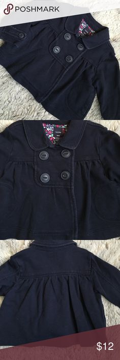 Navy BabyGap Peacoat Navy blue BabyGap button Peacoat. 2 hand pockets. Very cute!  Size 12-18mo. Tiny bit faded from wash but still has a lot of life left. 🚫Sorry no trades Gap Jackets & Coats