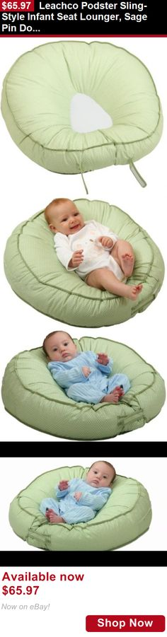Baby Safety Sleep Positioners: Leachco Podster Sling-Style Infant Seat Lounger, Sage Pin Dot BUY IT NOW ONLY: $65.97