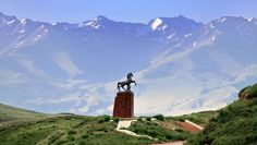 Kyrgyz Horse in the Mountains, the 'Spirit' of the Kyrgyz people.