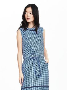 Timo Weiland Collection Gingham Tie-Front Top