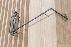 Behance :: For You Wayfinding Signage, Signage Design, Elevator Lobby, Underground Garage, Entrance Foyer, Linear Pattern, Modern Typography, Little Designs, Environmental Graphics