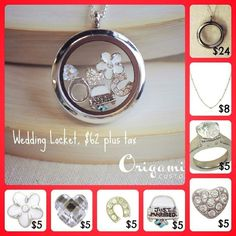 Wedding Origami Owl Locket. Get one for you as the bride, then buy them as amazing gifts for your bridesmaids! :) www.amyhall.origamiowl.com