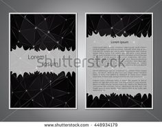 Business card. Template front pages and back pages poligotalnym pattern. Making invitations, leaflets, banners. Blank cover. Office Style. The layout of the poster. Vector illustration