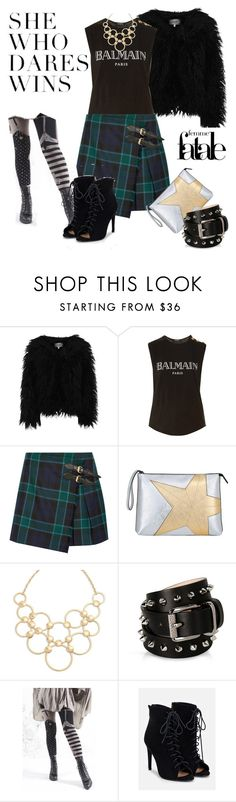"""Kinda quirky kinda Fall"" by starspy ❤ liked on Polyvore featuring Dry Lake, Balmain, Burberry, N°21, Vera Bradley, Barbara Bui, Dollhouse, JustFab, Fall and quirky"