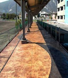 Awesome walkway using products from Rotec International #StampedConcrete #DecorativeConcrete