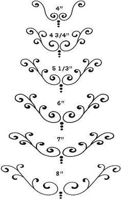 Cake Scroll Design Pattern
