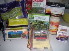 Ingredients for Cheddar's Casual Cafe Santa Fe Spinach Dip