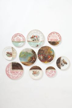 Fox Hunt Plate Collage - anthropologie...Really expensive, but great idea for decoupage on old china