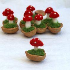 Filz Pilz in einer Schale Waldorf inspirierte von MyJacobsLadder