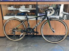 2013 Felt F-24 Youth Road Bike. 24 inch wheels. 2×8 speeds. Black. Aluminum frame with Carbon fork. Shimano components. Listed in as new condition since it is 7 years old and may show signs of age. Original white bar tape shows some discoloration. Shipping to lower 48's only. No Returns Brand: – Felt Number of […] Bicycles For Sale, White Bar, Road Bike, Fork, Tape, Wheels, Youth, Number, Signs