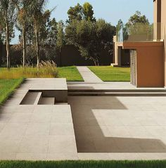 """With its collection of porcelain stoneware tiles """"Twenty"""", FMG enhances the surfaces of all outdoor spaces, making them resistant, inalterable, and easy to clean and install. With Twenty+, indoor and outdoor spaces can be brought together by a single surface, enhancing the depth of the perceived space"""