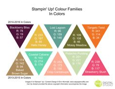 Stampin Up  In Colours  Rgb And Hex Codes Addinktive