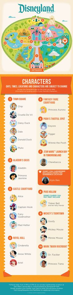 Park Character Experience Guide *m. With this guide, you can find the Character Experiences waiting for you at Disneyland® Park! With this guide, you can find the Character Experiences waiting for you at Disneyland® Park! Disney Cruise Line, Disney 2017, Disney Tips, Disney Fun, Disney Magic, Disney Surprise, Disney Travel, Disney Secrets, Disney Planning