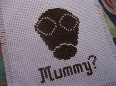More Whovian crosstitch, from one of my fave episodes. DW Mummy /// crossstitch pattern by oregonstream on Etsy, $3.00