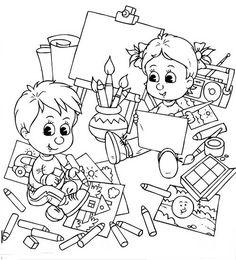Mais desenhos de volta às aulas http://colorindo.org/volta-as-aulas/ #colorindo