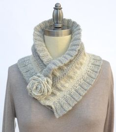 (6) Name: 'Knitting : Ruffled & Ruched Scarf