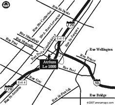 Road Map for Atrium Le 1000 de La Gauchetière