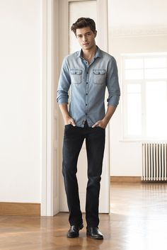 A great jean in a clean, indigo wash is a fall staple that'll keep on giving. Wear it with a light denim shirt and you've got a no-fuss, go-to outfit for fall | Shop the Mavi Men's Fall Collection