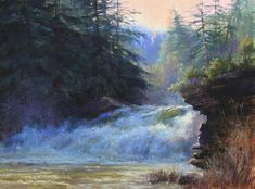 Overflow by Lisa Mitchell Pastel ~ 12 x 16 Paintings I Love, Beautiful Paintings, Beautiful Landscapes, Pastel Paintings, Pastel Landscape, Landscape Art, Landscape Paintings, Impressionist Paintings, Seascape Paintings