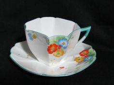 SHELLEY CHINA PATTERN #12060 QUEEN ANNE SHAPE TEA CUP & SAUCER