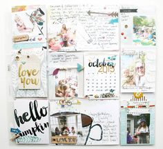 Like this for Project Life - Each pocket a mini-layout with tiny photos.