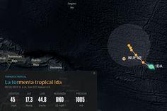 Ubicación de la tormenta tropical Ida a las 11:00 AM Domingo 20-09-2015   LVV