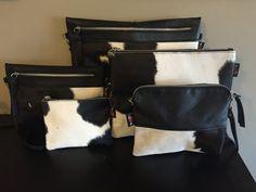 Cow Hide Sable Clutch Cross Body Bag.This by TanaandHide on Etsy
