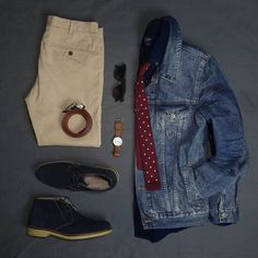 Styling inspiration on how to wear a denim jacket 8 different ways. I'll show you just how versatile this fall staple can be. Geek Fashion, Fashion Ideas, Fashion Outfits, Fashion Tips, Fashion Essentials, Style Essentials, Denim Jacket Men, Mens Fall, Cool Suits