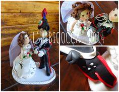 Sopratorta per matrimonio (Wedding cake topper) con sposino in divisa (GUS) dei carabinieri