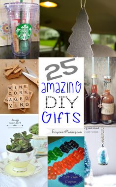 Easy DIY Gift Ideas.. check off everyone on your shopping list!! #diy #craft #christmas