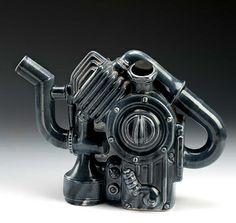 Diesel Teapot by Clayton Bailey / American Art