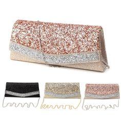 Stylish Women Gilr Lady Handbag Evening Cocktail Party Bag Wedding Wallet Purse #Unbranded #Clutch