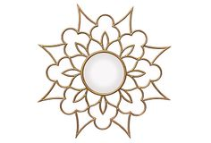 Barclay Butera for Mirror Image Home Ava Wall Mirror Stained Glass Patterns, Mosaic Patterns, Kirigami, Gold Sunburst Mirror, Stencils, 4 Tattoo, Mirror Image, Mirror Mirror, Wall Mirrors