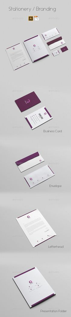 Buy Stationery Branding by azadcsstune on GraphicRiver. File Includes Letterhead and Letter size Business Card Envelope Presentation Folder Editable Illustrator files (ai. Corporate Stationary, Stationary Branding, Stationery Printing, Stationery Design, Print Templates, Design Templates, Presentation Folder, Card Envelopes, Letterhead
