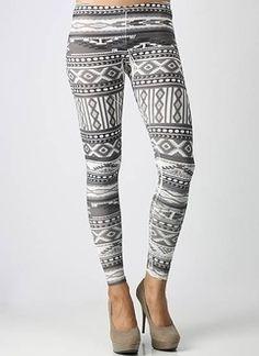 Tribal design tights