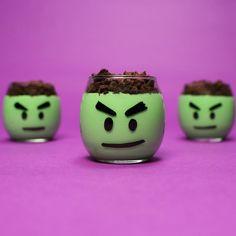 How to Make Incredible Hulk Pudding Cups